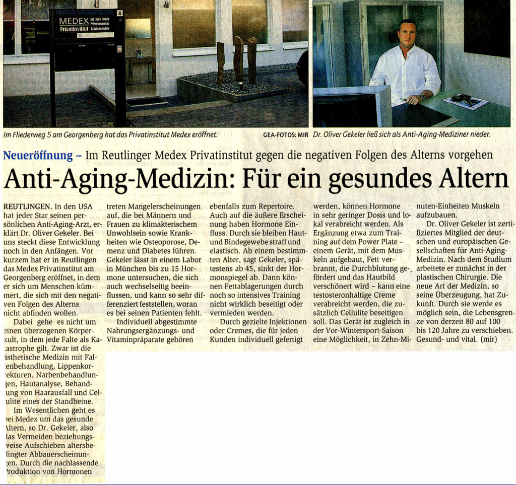 Reutlinger Generealanzeiger 11/2005