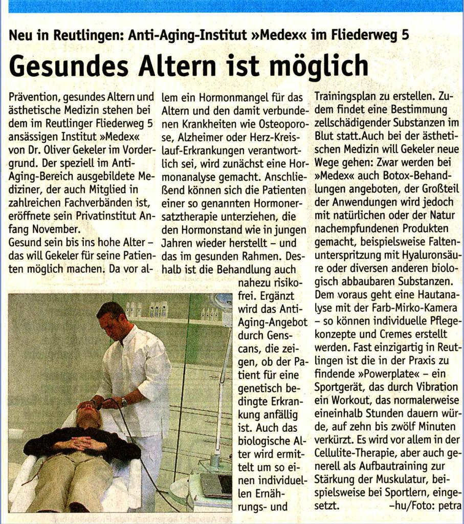 Reutlinger Generealanzeiger 12/2005