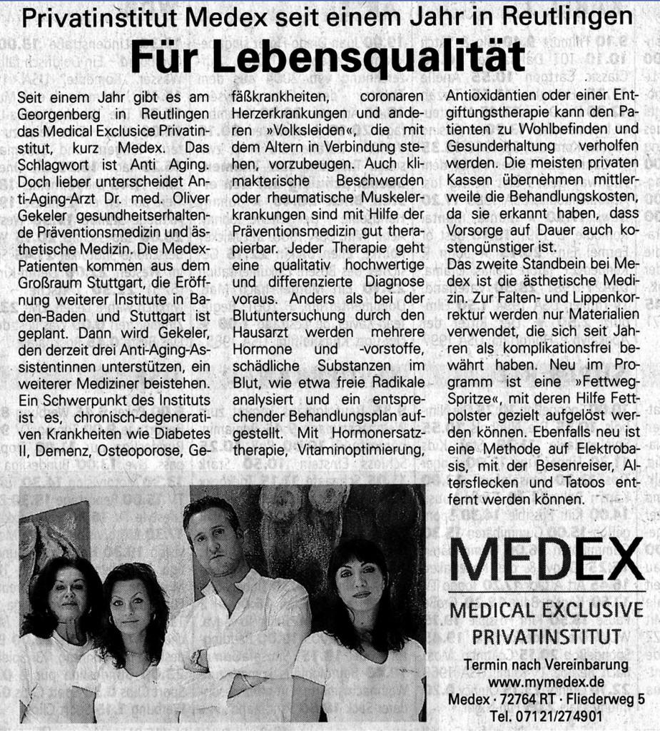 Reutlinger Generealanzeiger 11/2006